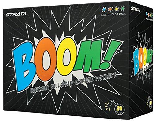 Strata Boom Golf Balls, (Two Dozen), Multi