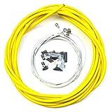 VORCOOL Cable de freno de bicicleta bicicletas universales Accesorios de piezas de cable de cambio de bicicleta de camino (amarillo)