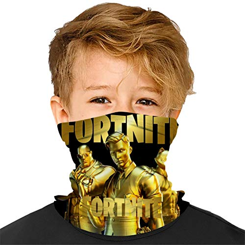 Kids Face Mask Neck Gaiter F-or-TN-ite Cloth Cover Balaclava Reusable Masks For Boys And Girls