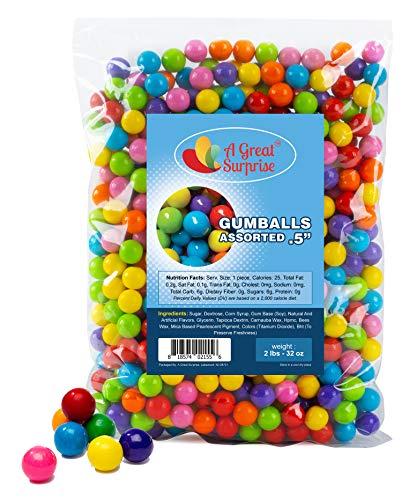Gumballs for Gumball Machines - Apx. 620 Gumballs - 2 Pounds - Gumballs Refill - Mini Gumballs 1/2 Inch - Bulk Candy