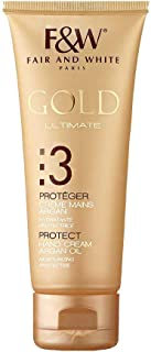 F&W Gold Ultimate Protect Hand Cream with Argan Oil, For Moisturization (75gm)