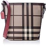 n.v. bags 279, crossbody donna, rosa, large