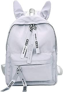 Rabbit Ears Cute Backpack Large Capacity Student Bag Rucksacks (Gray)