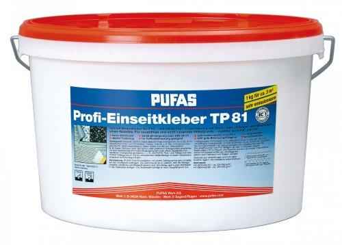 Pufas Profi-Einseitkleber TP 81 Profi Bodenbelagskleber PVC-/CV-Belägen, Teppichböden und Nadelfilz 10kg