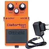 Boss DS-1 Distortion Pedal + fuente de alimentación keepdrum 9 V