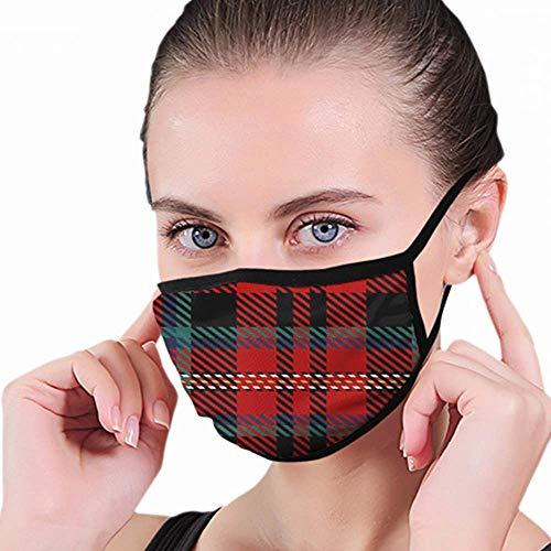 Gezichtsmasker, Zwart Blauw Groen Rood Wit Schotse ruit Abstract Beauty Fashion Mondmasker, Veiligheids Mondbeschermers Voor Hardlopen Fietsen Buiten