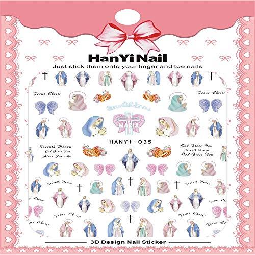 ZJIUYE Autocollant d'ongle Fantacy Flowers Nails Art Autocollant Harajuku Wrap Wrap Sticker Conseils Autocollants Faites Vos Ongles Plus Belle B