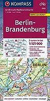Berlin-Brandenburg 1:125 000: Grossraum-Radtourenkarte 1:125000, GPX-Daten zum Download