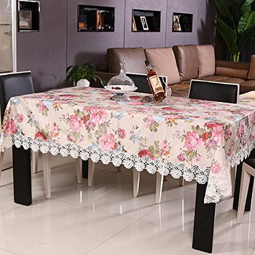 sans_marque Mantel de mesa, mantel de mesa, puede limpiar el borde de la decoración de la mesa, utilizado para mesa de comedor de cocina. 150 x 220 cm