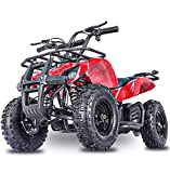 Fit Right 2020 Sonora Kids 24V Mini Quad ATV, Dirt Motor Electric Four Wheeler Parental Speed Control, With350W Motor Power Reserve, Large Tires & Wide Suspension (REDSPIDER)