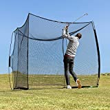 FORB Proflex Driving Golf Net - Pop-up Golf Practice Net & Golf Cage | Backyard/Home Golf Training Equipment | Golf Hitting Net | Portable Design & Easy Set Up