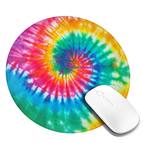 Gaming Gaming Mouse Round Mousepad Galaxy Mouse Pad, Non-Slip Base, Water-Resistant, for Work & Gaming, Office & Home