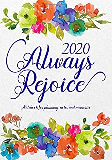 Always Rejoice: Notebook for Planning, Notes and Memories: For the 2020 Convention of Jehovah's Witnesses