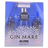 Gin Mare Pack - Ginebra Premium de 700ml con 4 Tónicas Premium Seventeen y una Cucharilla Removedora