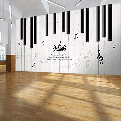 Wanddekoration Malerei Musik Klassenzimmer Hintergrundbild Piano Studio Schulungsklasse Wanddekoration Malerei kreative Notizen Piano RoomWallpaper Wandbild Tapete Fototapete Wandbilder-350cm×256cm