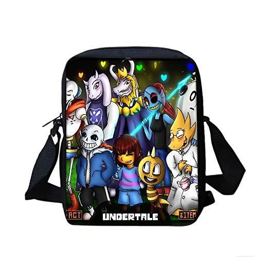 Undertale Casual Backpack High Quality Small Over Shoulder Bags Fashion Canvas Satchel Crossbody Bag PU Leather Backpack Unisex (Color : A11, Size : 20 X 5 X 25cm)