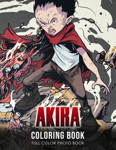 Akira Coloring Book: Shotaro Kaneda Anime Character Coloring Book Get Creative Be...