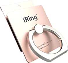 AAUXX iRing Link Finger Ring Holder Cell Phone Accessories. Removable Plate Enable Wireless Charging. Ring Stand Compatible with iPhone, Samsung, Other Android Smartphone. (Rose Gold)