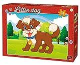 King- Little Dog in The Park Children Jigsaw Puzzle (24-Piece) Rompecabezas, Multicolor (KNG05799)