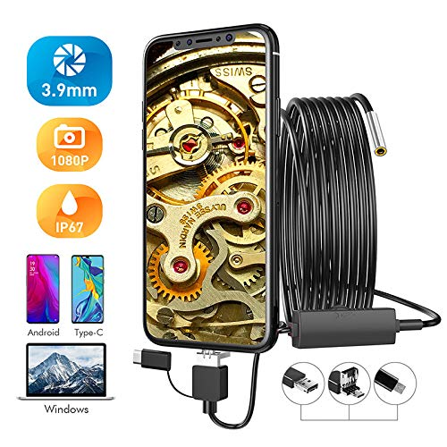 3 9 Mm Android endoscoopcamera 2 0 MP 3 in 1 USB mini camcorder waterdicht 6 LED endoscoop inspectiecamera voor Huawei PC 5m