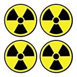 Sutter Signs Nuclear Radiation Warning Symbol Stickers - Individually Die-Cut - 3-inch Diameter...