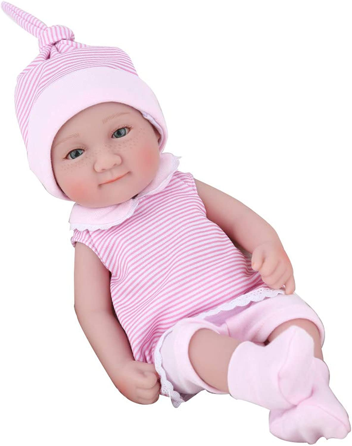CHENG Simulation Doll Reborn Realistic Baby Soft Silicone Dolls Cute Waterproof Newborn Babies