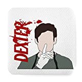 Ceramic Absorbent Coasters Dexter Holder Morgan Base Shhhh Cork Decor Furniture Absorbent Coasters for Drinks, Wooden Table ,Housewarming Gift for Friend