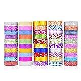 TOOGOO 50 StüCke Glitter Tape Schreibwaren Scrapbooking Dekorative Klebeb?Nder Diy Farbe Abdeckband Schulbedarf