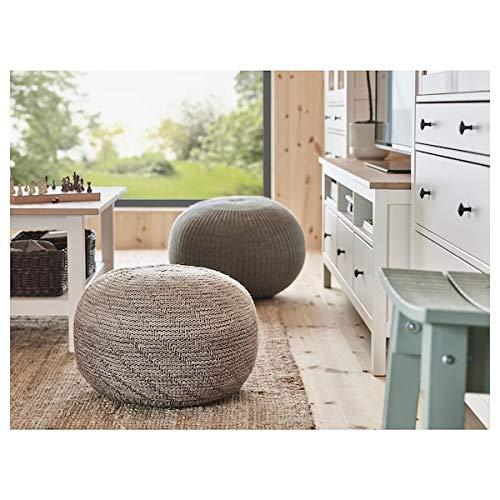 BestOnlineDeals01 Sitzsack SANDARED grau 56 cm robust und pflegeleicht Fußhocker aus Stoff Fußhocker und Sitzhocker. Sofas & Sessel Möbel Umweltfreundlich.