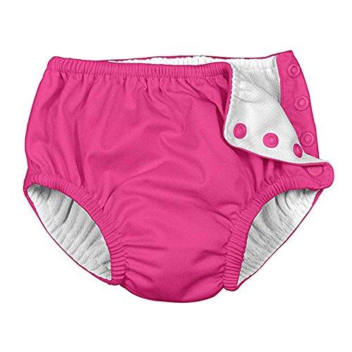 Topgrowth Pannolino Costume Neonato Pannolini Lavabili Bambina Bambino Riutilizzabile Assorbente Pantaloncini Nuoto Pannolino (Rosa Caldo, 70)