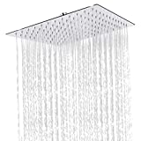 Sooreally Square Rain Shower Head - 12 Inch Stainless Steel Large...