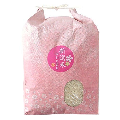 【無洗米】 新潟県産 無農薬米 コシヒカリ 25kg (5kgx5袋)