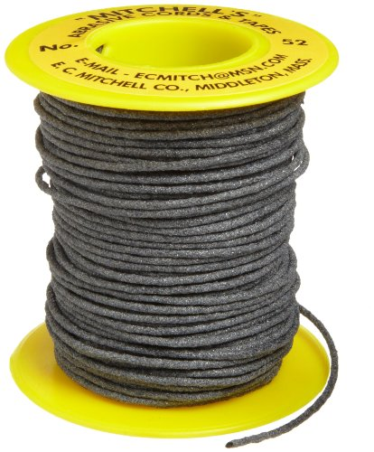 Mitchell Abrasives 52A-25 Round Abrasive Cord, Aluminum Oxide 150 Grit .055' Diameter x 25 Feet