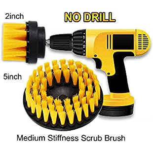 """OxoxO 2"""" + 5"""" Drill Brush Medium Heavy Duty Scrubbing Cleaning Power Scrubber Cleaning Kit for Bathroom Tub Shower Tile Grout Kitchen Cabinets:Iracematravel"""