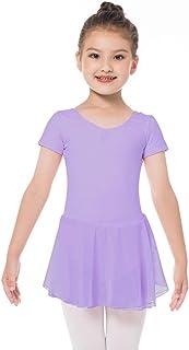 Bezioner Ballet Dresses Short Sleeve Dance Leotard for Girls/Toddler
