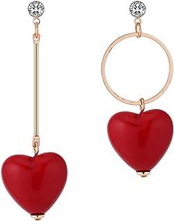 000caef06176 Amazon.es: corazon rojo - Pendientes / Mujer: Joyería