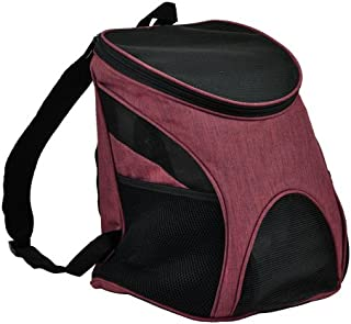 Dogline Front and Backpack for Dogs/Cats - Two Sizes - Airline Approved - Small Red