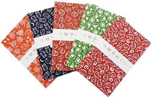 KOMESICHI - Juego de toallas tradicionales japonesas (modelo pequeño, 5 unidades)