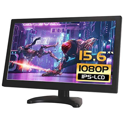 15.6 Zoll CCTV HDMI Monitor LCD IPS 1920 * 1080 Audio Video Display mit Fernbedienung/USB/VGA/AV/BNC/HDMI Bildschirm drehbar für Raspberry Pi House Überwachungskamera PC DVD DVR