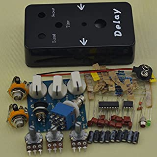 TTONE DIY Delay Guitar Effects Pedal Kit Analog Guitar's Stompbox Black Portable