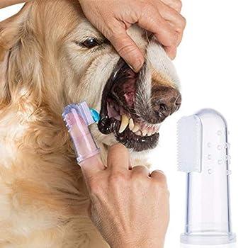 12pcs brosses à dents en silicone souples pour animaux de compagnie, brosse à dents pour chien, dents de chat, nettoyage des dents, soins dentaires pour chiens, chats, brosse en silicone souple pour