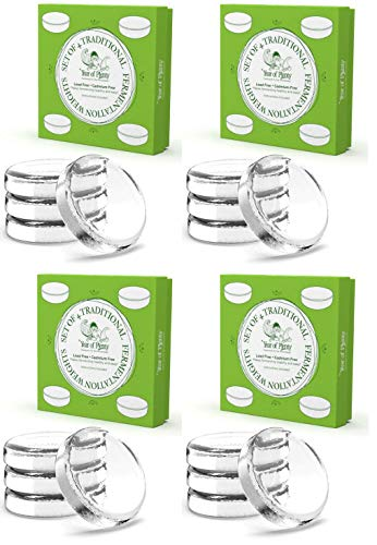 Year of Plenty Set of 16 Fermentation Weights for Use in All Wide Mouth Mason Jars for Fermenting Sauerkraut, Kimchi, Pickles and Other Healthy Fermented Foods Full of Probiotics (16).