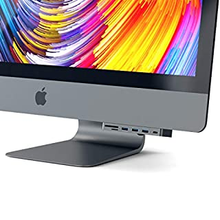 Satechi Aluminum Type-C Clamp Hub Pro with USB-C Data Port, 3 USB 3.0, Micro/SD Card Reader - Compatible with 2019/2017 iMac and iMac Pro (Space Gray) (B078853NCS)   Amazon price tracker / tracking, Amazon price history charts, Amazon price watches, Amazon price drop alerts