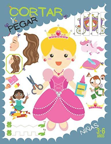 Cortar y pegar - Niñas: Aprende a recortar y pegar para niñas 3-6 años.