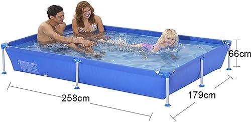 online barato MJ-Inflatable swimming swimming swimming pool Piscina para Cuadros Familia Grande, Antideslizante, portátil, para Exteriores, azul - azul 258  179  66 cm  exclusivo