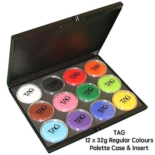 12 Color Tag Face Paint Professional Face Paint Palette Face...