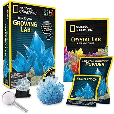 NATIONAL GEOGRAPHIC Purple Crystal Growing Lab - DIY Crystal Creation - Includes Real Amethyst Crystal Specimen