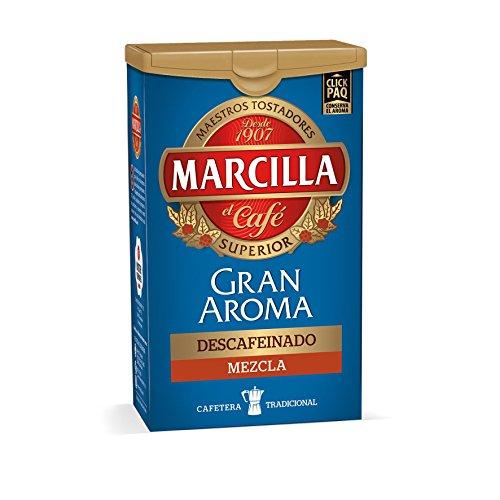 MARCILLA cafe molido descafeinado intenso mezcla gran aroma paquete 200 gr
