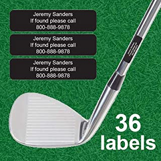 Personalized Golf Club Labels (36pcs)