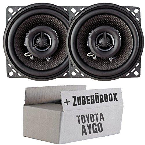 Ampire CP100-10cm Lautsprecher 2-Wege Koaxialsystem - Einbauset für Toyota Aygo - JUST SOUND best choice for caraudio